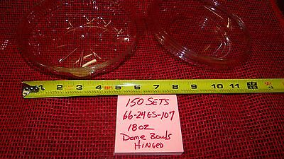 Pactiv 18 oz. Plastic Dome Bowl with Hinged Lid Case of 150 (#107)