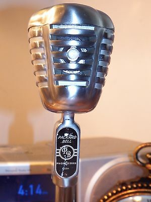 Vintage Packard Bell Microphone D-20H Model 1930's 40's-WORKING
