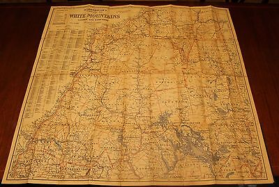 Original Antique folding Map from 1903 of New Hampshire