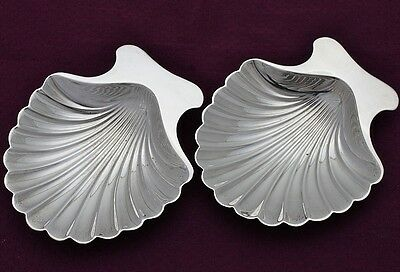 Two Tiffany & Co. Sterling Silver Seashell form Serving Dishes or Bowls