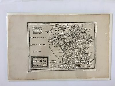 Original ca 1730 map of France by Moll