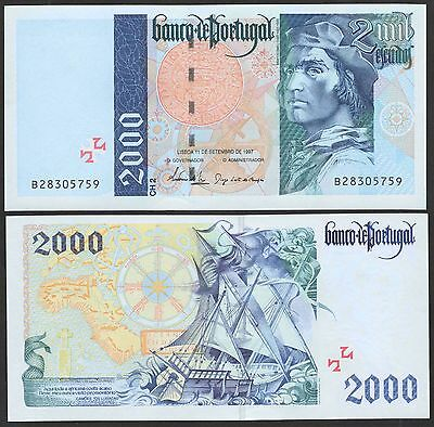 PORTUGAL P189c***2000 ESCUDOS***ND 11-09-1997***UNC GEM***LOOK SUPER SCAN