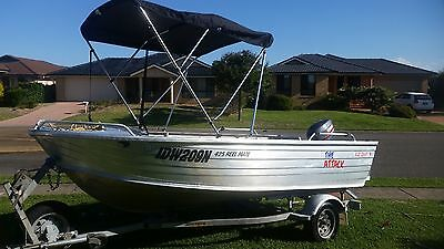 4.25 Allycraft 2010 Reel Mate Aluminium Boat And Trailer 30Hp Yamaha