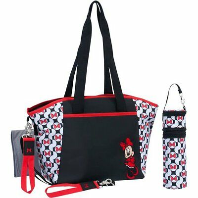 Brand New Disney Baby 5-in-1 Diaper Tote Set Minnie Mouse Changing Pads Holder