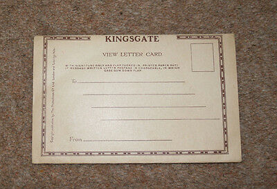 5 Vintage Postcards In A View Letter Card Of Kingsgate, Broadstairs