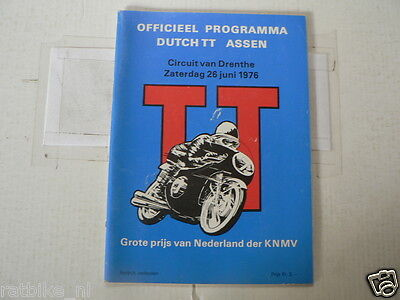 1976 Dutch Tt Assen Motorrennen Programme. Grandprix Jack Findlay,hailwood,nieto