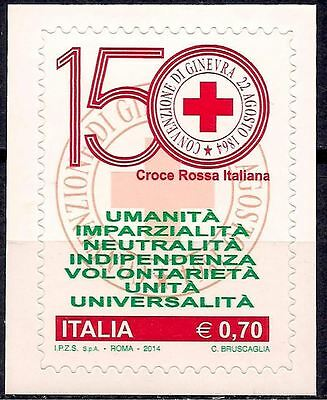 Italy 2014 Red Cross/150th anniv Health Medical Humanity Voluntary 1v MNH