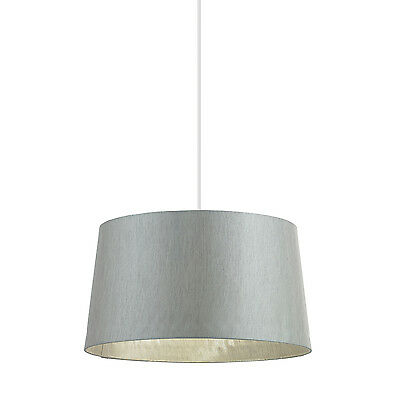 Endon Cordelia lampshade 16 inch Silver grey faux silk 220mm H x 405mm D max.