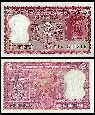 India 2 RUPEES Letter B Sign. 85 P 53Ad UNC