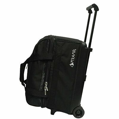 Pyramid Prime Double Roller Bowling Bag Black