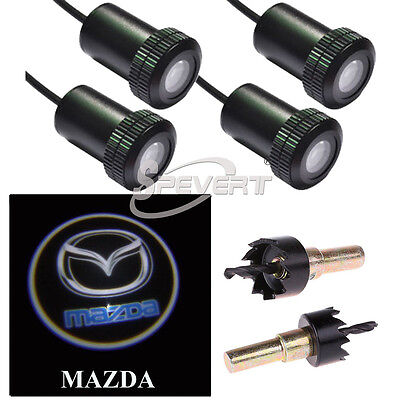 4X LED Welcome Projector Logo Ghost Shadow Car Door light/lamp For Mazda