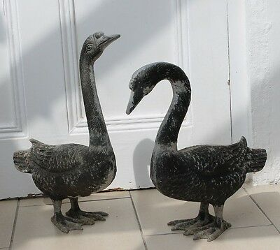 Pair of Vintage Metal Geese