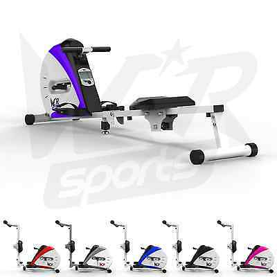 Rowing Machine Body Tonner Home Rower Fitness Cardio Workout Weight Loss Purple
