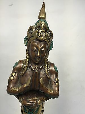 Asian Bronze Genie Statue Figure