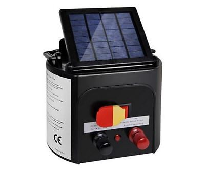 New 3Km Solar Power Electric Fence Energiser Charger Farms Livestock Animals