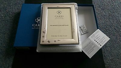"""carrs sterling silver photo frame with wooden back 5 x 3.5"""""""