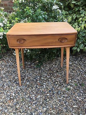 Vintage Ercol writing desk/dressing table - 1960s - mixed wood