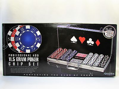 WSOP Professional 400 11.5 gram Chip Set Aluminum Case World Series of Poker