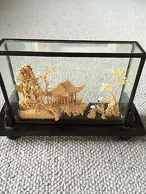 Old Oriental Chinese Style Ornate Carving Model Display