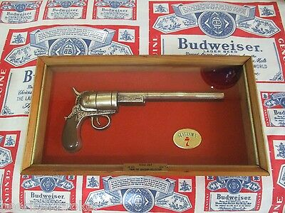VTG SEAGRAM'S 7 SEVEN CANADIAN WHISKEY 1834 .36 Cal. TEXAS COLT GUN PISTOL SIGN