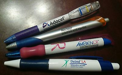 Lot of 4 Drug Rep Pharmaceutical Pens-Attention Collectors-Great Value!