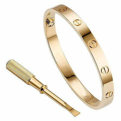 Unisex Men Womens Stainless Steel Fashion Love Bangle Bracelet with Screwdriver