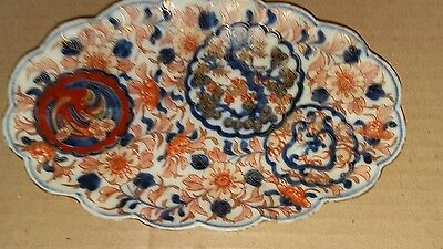 Great vintage Chinese Japanese pottery imari dish