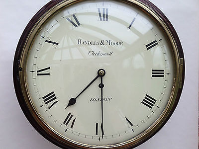 Early English Wooden dial fusee Wall clock