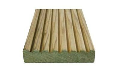 DECKING BOARDS 32x125mm 4.8m LONG TIMBER DECKING *Collection* Priced Per Meter.