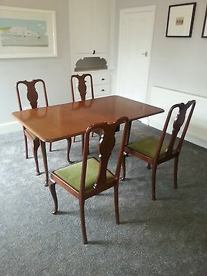 Antique Edwardian dining table and 4 Chairs