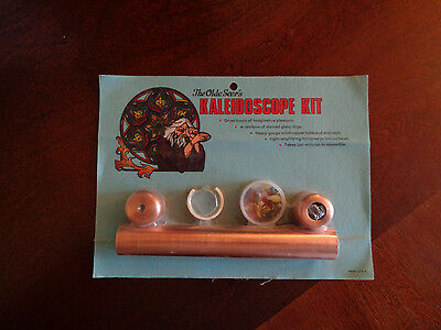 "Vintage ""The Olde Seer's Copper Kaleidoscope Kit In Package A Touch Of Glass"
