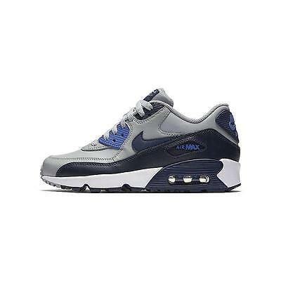 sneakers for cheap f01c7 bc697 New Nike Youth Air Max 90 Leather GS Shoes (833412-009) Wolf Grey