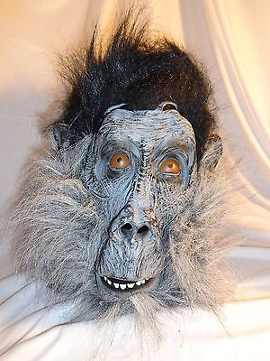 Gray Gorilla Latex Animal Mask Halloween Party Costume Decorations Cosplay - USA