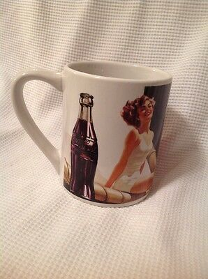 COCA-COLA coffee cup mug Woman In Bathing Suit Gibson 1997