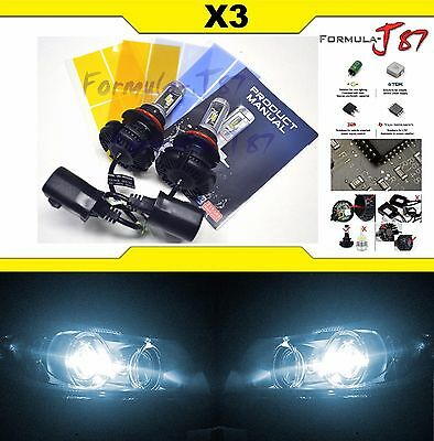 LED Kit X3 50W 9004 HB1 6000K White Head Light Two Bulbs Dual Beam Upgrade Lamp