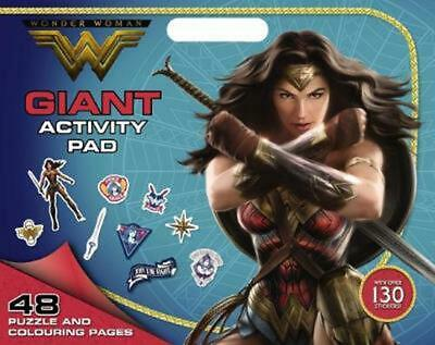 DC Comics: Wonder Woman Giant Activity Pad Paperback Book Free Shipping!