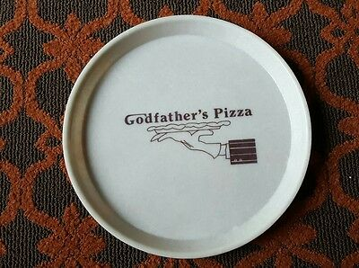 RARE Canitray Co, Vintage 1980's GODFATHER'S (LOGO) PIZZA SERVING TRAY 14""