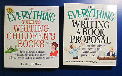 The Everything Guide to Writing Children's Books & Writing A Book Proposal Lot