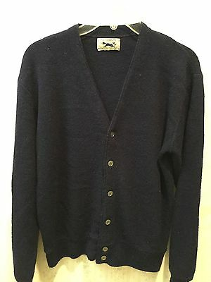 Vintage Golf Sweater - Navy - Size S - Long Sleeve - The Fox Sweater - JC Penney
