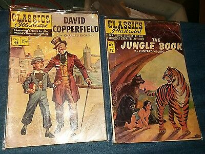 classics illustrated 2 issue comics lot jungle book david copperfield collection