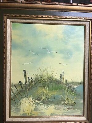 Signed Morgan OIL/CANVAS PAINTING 16 X 20 Canvas Beautifully Framed Seascape
