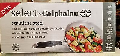 Select By Calphalon Stainless Steel 10-piece Cookware Set - BRAND NEW!!!