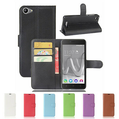 For Wiko Lenny 3 Max Magnetic Flip PU Leather Wallet Card Soft Case Stand Cover