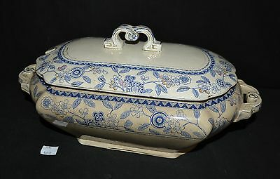 ThriftCHI ~ Antique Brownfield & Sons Berne Soup Tureen Blue Transfer Design