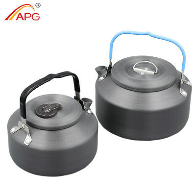 Portable Alu Camping Kettles Teapot Outdoor Hot Water Kettle Cookware 0.8L 1.4L
