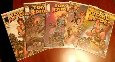 Tomb Raider #1 variant cover lot 5 Preview~Andy Park~Jurgens~Finch~Top Cow~NM