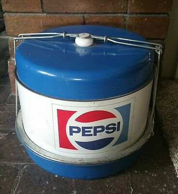 ☆☆Pepsi-Cola Quad-Layer Picnic/Cake Dish/Pie Carrier☆Circa 1970 Original ☆☆