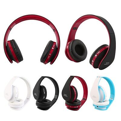 Foldable Wireless Bluetooth Headset Stereo Over Ear Headphone Earphone JDD