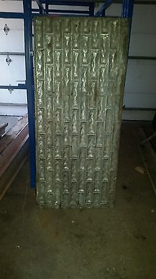"Antique Ceiling / Roof Tin Architectural With Pressed Design - 27"" x 59-1/2"""
