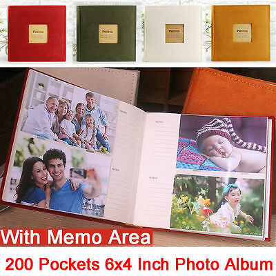 200pages 6 Inch  Leather Vintage Handmade DIY Photo Album  For Birthday Wedding